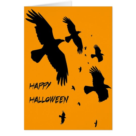 Happy Halloween Murder of Crows Card