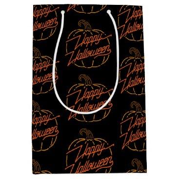 Halloween Themed Happy Halloween Neon Gift Bag