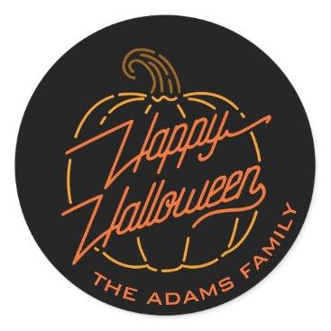 Halloween Themed Happy Halloween Neon Stickers