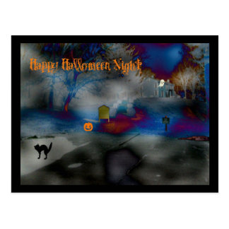 Happy Halloween Night Postage Postcard