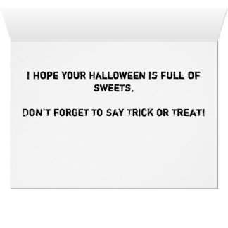 Happy Halloween Notecard Stationery Note Card
