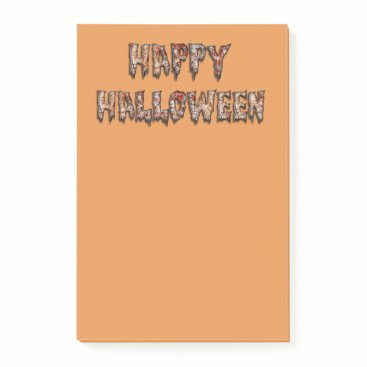 Beach Themed Happy Halloween Novelty Orange Notes
