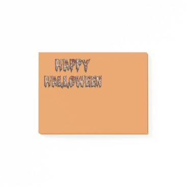 Halloween Themed Happy Halloween Novelty Orange Post-it Notes