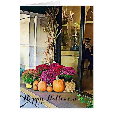 Halloween Themed Happy Halloween NYC Pumpkin Display Card