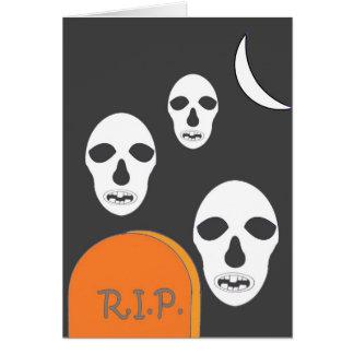 Happy Halloween o Dia de las Brujas Greeting Card