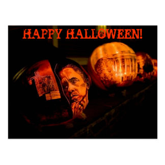 Happy Halloween - Obama postcard