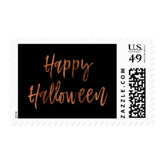 Happy Halloween Orange and Black Modern Stamp