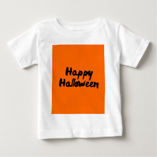 Happy Halloween Orange Black Brush Stroke Baby T-Shirt