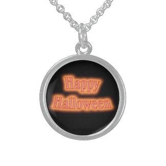 Happy Halloween orange glow Personalized Necklace