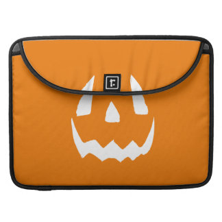 Happy Halloween Orange Jack O'Lantern Face MacBook Pro Sleeve