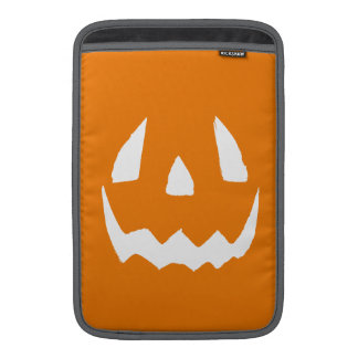 Happy Halloween Orange Jack O'Lantern Face MacBook Sleeve