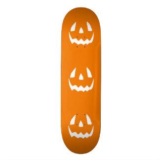 Happy Halloween Orange Jack O'Lantern Face Skateboard