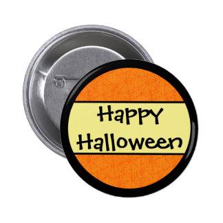 Happy Halloween Orange Pattern 2 Inch Round Button