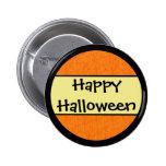 Happy Halloween Orange Pattern Buttons