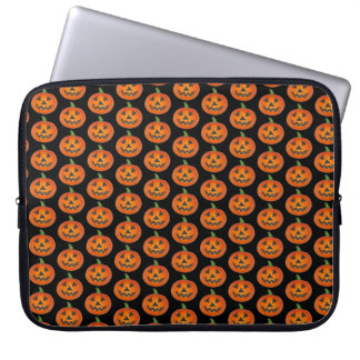 Happy Halloween Orange Pumpkin Jack o' Lantern Computer Sleeve