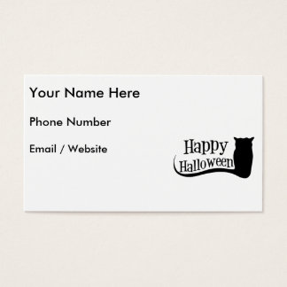 Happy Halloween Owl Business Card