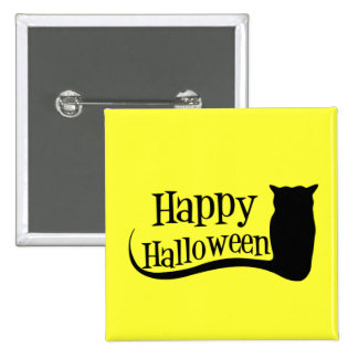 Happy Halloween Owl Buttons