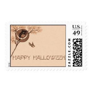 Happy Halloween Owl Postage