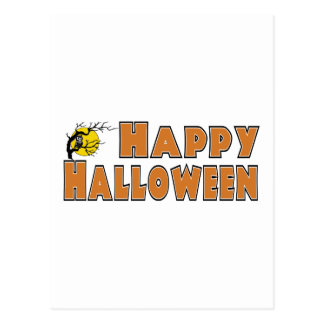 Happy Halloween Owl Tree Branch Post Card