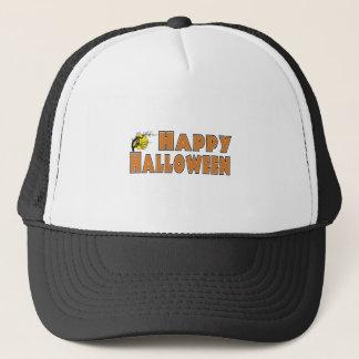 Happy Halloween Owl Tree Branch Trucker Hat