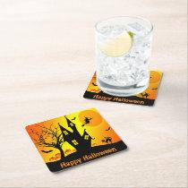 Happy Halloween Paper Coaster
