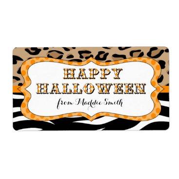 Halloween Themed Happy Halloween Party Favor Treat Label