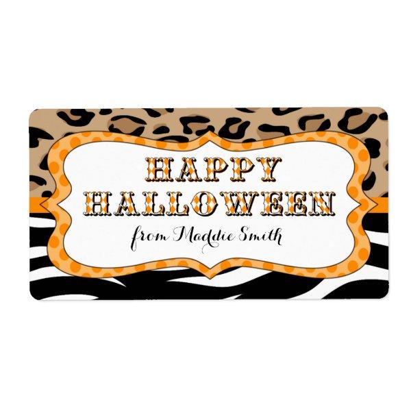 Happy Halloween Party Favor Treat Label