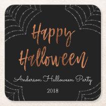 Happy Halloween Party Modern Halloween Coasters