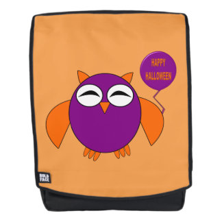 Happy Halloween Party Owl Backpack
