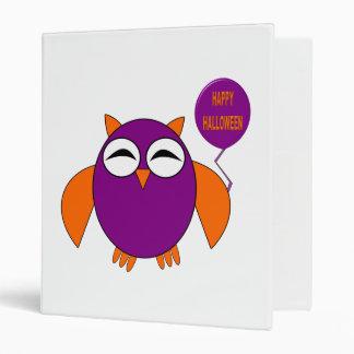 Happy Halloween Party Owl Binder