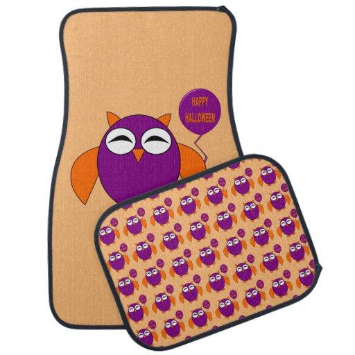 Happy Halloween Party Owl Car Mat Set Zazzle