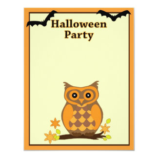 Happy Halloween Party Owl Card