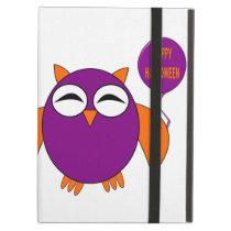 Happy Halloween Party Owl iPad Case