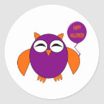 Happy Halloween Party Owl Stickers