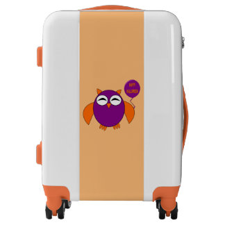 Happy Halloween Party Owl Suitcase Luggage
