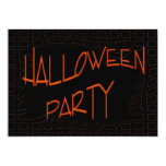Happy Halloween Party Personalized Announcements