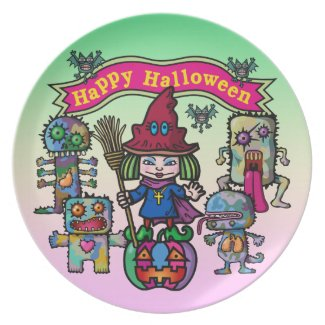 Happy Halloween Party Plate