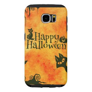 Happy Halloween Pattern Samsung Galaxy S6 Case