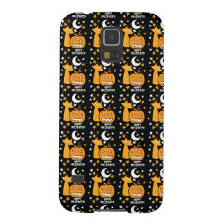 Happy Halloween pattern with cat stars and pumpkin Samsung Galaxy Nexus Cases