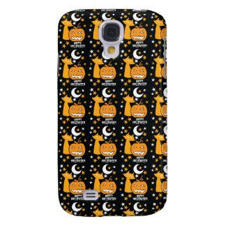Happy Halloween pattern with cat stars and pumpkin HTC Vivid / Raider 4G Case