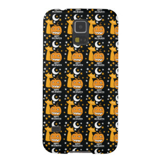 Happy Halloween pattern with cat stars and pumpkin Galaxy S5 Case