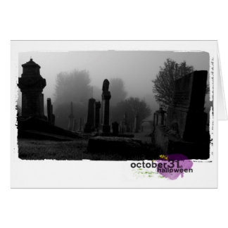 Happy Halloween Photography cemetary Card