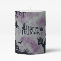Happy Halloween Pillar Candle
