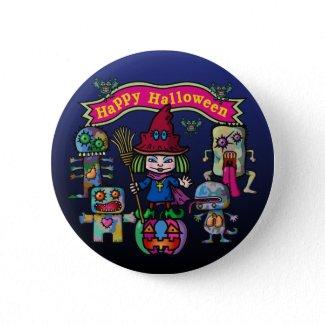 Happy Halloween Pinback Buttons