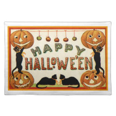 Happy Halloween Placemat at Zazzle