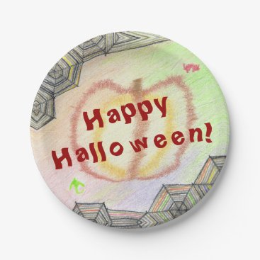 Halloween Themed Happy Halloween! Playful Colorful Paper Plates