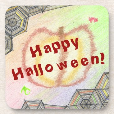 Halloween Themed Happy Halloween! Playful Colorful Plastic Coasters