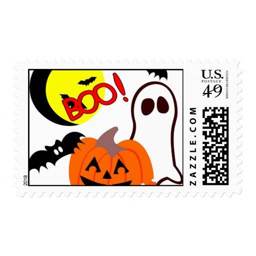 Happy Halloween Postage