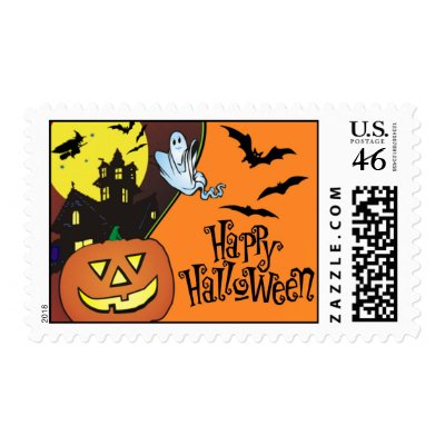 Happy Halloween Postage Stamps stamp