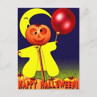 Happy Halloween Postcard postcard